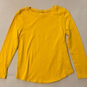 Gold yellow long sleeved top